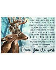 Hunting Deers I Love You The Most 17x11 Poster front