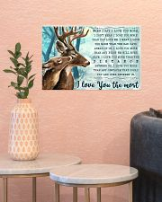 Hunting Deers I Love You The Most 17x11 Poster poster-landscape-17x11-lifestyle-21