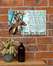 Hunting Deers I Love You The Most 17x11 Poster poster-landscape-17x11-lifestyle-23