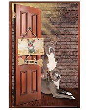 Pitbull Dogs At Door 11x17 Poster front