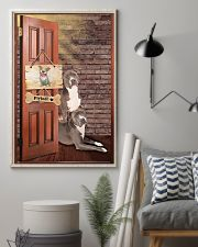 Pitbull Dogs At Door 11x17 Poster lifestyle-poster-1