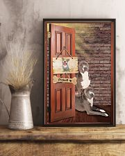 Pitbull Dogs At Door 11x17 Poster lifestyle-poster-3
