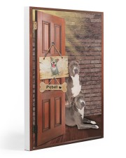 Pitbull Dogs At Door Gallery Wrapped Canvas Prints tile