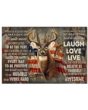 Deer Hunting Today Is A Good Day 17x11 Poster front