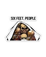 Skull - Six Feet - People Sticker - Single (Vertical) front