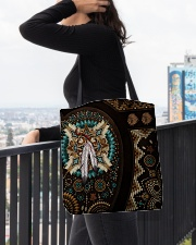 Native American Pride Mandala Pattern All-over Tote aos-all-over-tote-lifestyle-front-05