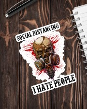 Skull Social Distancing I Hate People Sticker Sticker - Single (Vertical) aos-sticker-single-vertical-lifestyle-front-05
