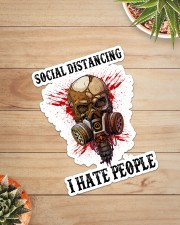 Skull Social Distancing I Hate People Sticker Sticker - Single (Vertical) aos-sticker-single-vertical-lifestyle-front-07