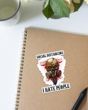 Skull Social Distancing I Hate People Sticker Sticker - Single (Vertical) aos-sticker-single-vertical-lifestyle-front-16