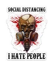 Skull Social Distancing I Hate People Sticker Sticker - Single (Vertical) front
