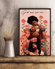 God Says You Are Black Girl Beautiful 11x17 Poster lifestyle-poster-3