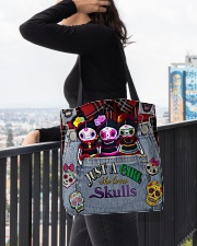 Just A Girl Who Loves Skull  All-over Tote aos-all-over-tote-lifestyle-front-05