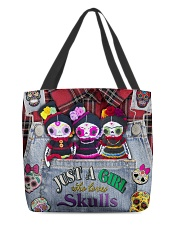 Just A Girl Who Loves Skull  All-over Tote back