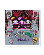Just A Girl Who Loves Skull  Sticker - Single (Vertical) thumbnail