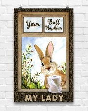 Rabbit Your Butt Napkins My Lady 11x17 Poster aos-poster-portrait-11x17-lifestyle-17