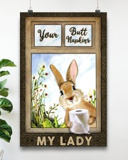 Rabbit Your Butt Napkins My Lady 11x17 Poster aos-poster-portrait-11x17-lifestyle-19