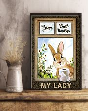 Rabbit Your Butt Napkins My Lady 11x17 Poster lifestyle-poster-3