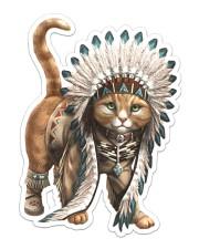 Native Cat Sticker - Single (Vertical) front