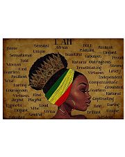 Black Queen I am Africa Unique Beautiful  15 17x11 Poster front