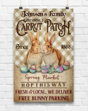 Custom Name Rabbit Flannel Carrot Patch Easter  11x17 Poster aos-poster-portrait-11x17-lifestyle-17