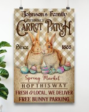 Custom Name Rabbit Flannel Carrot Patch Easter  11x17 Poster aos-poster-portrait-11x17-lifestyle-19