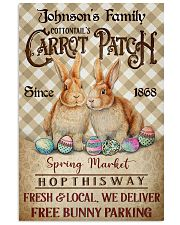 Custom Name Rabbit Flannel Carrot Patch Easter  11x17 Poster front