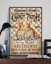 Custom Name Rabbit Flannel Carrot Patch Easter  11x17 Poster lifestyle-poster-2
