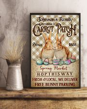 Custom Name Rabbit Flannel Carrot Patch Easter  11x17 Poster lifestyle-poster-3