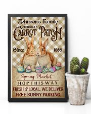 Custom Name Rabbit Flannel Carrot Patch Easter  11x17 Poster lifestyle-poster-8