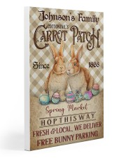 Custom Name Rabbit Flannel Carrot Patch Easter  Gallery Wrapped Canvas Prints tile