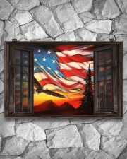 Eagle Proud American  17x11 Poster aos-poster-landscape-17x11-lifestyle-13