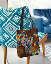 Autism Elephant Different Not Less  All-over Tote aos-all-over-tote-lifestyle-front-01