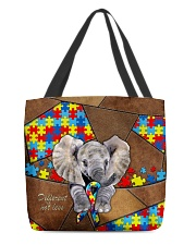 Autism Elephant Different Not Less  All-over Tote front