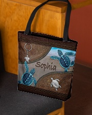 A girl who loves turlte animal for turtle lovers All-over Tote aos-all-over-tote-lifestyle-front-02