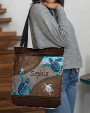 A girl who loves turlte animal for turtle lovers All-over Tote aos-all-over-tote-lifestyle-front-09