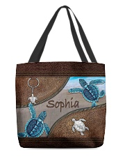 A girl who loves turlte animal for turtle lovers All-over Tote front