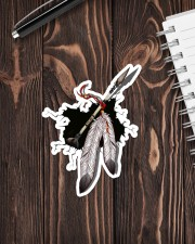 NDGBVD5820 Native Feather Crack St Sticker - Single (Vertical) aos-sticker-single-vertical-lifestyle-front-05