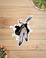 NDGBVD5820 Native Feather Crack St Sticker - Single (Vertical) aos-sticker-single-vertical-lifestyle-front-07