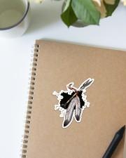 NDGBVD5820 Native Feather Crack St Sticker - Single (Vertical) aos-sticker-single-vertical-lifestyle-front-16