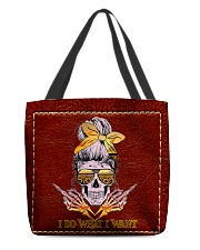 Skull I Do What I Want All-over Tote front