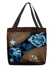 Love Turtle Ocean Animal For Turtle Lovers All-over Tote back