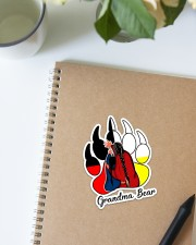 Native - Grandma Bear  Sticker - Single (Vertical) aos-sticker-single-vertical-lifestyle-front-16