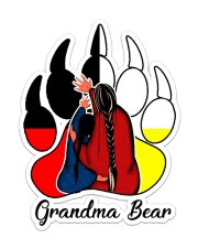 Native - Grandma Bear  Sticker - Single (Vertical) front