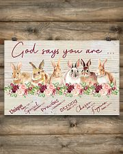 Lovely Rabbit Good Say You Are 17x11 Poster poster-landscape-17x11-lifestyle-14