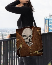 Skull Leather All-over Tote aos-all-over-tote-lifestyle-front-05