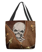 Skull Leather All-over Tote front