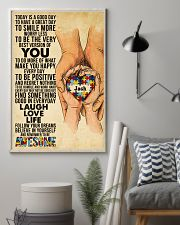Custom Name Autism Today Is A Good Day   11x17 Poster lifestyle-poster-1