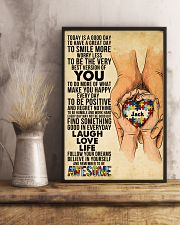Custom Name Autism Today Is A Good Day   11x17 Poster lifestyle-poster-3