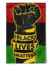 "Black - Black Lives Matter Flag 11.5""x17.5"" Garden Flag front"