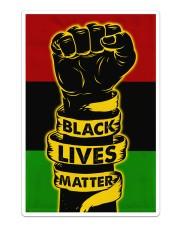 Black - Black Lives Matter Flag Sticker tile